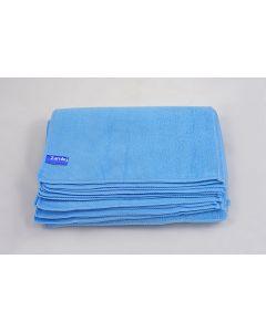 Bayeta Microfibra Rizo Profesional Azul Docena 30x40
