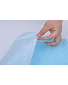 Babero Desechable Azul con bolsa