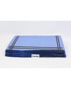 Mantelito Cortado Papel Azul 30x40 Impresion Estandar