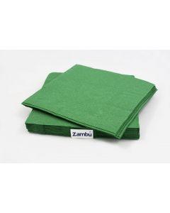 Servilletas Comedor Papel Verdes 40 2 capas Doblado en Cruz