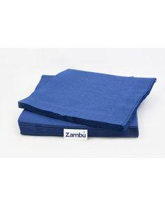 Servilletas Comedor Papel Azul Marino 40  2 capas Doblado en Cruz