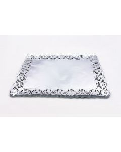 Blonda Calada Plata Rectangular 26x32